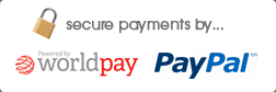 Secure payments with Paypal and Worldpay